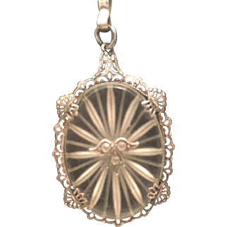 Sterling Camphor Glass pendant with chain