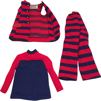 Francie Barbie Outfit Striped Types #1243