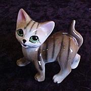 G Novelty Co. (Japan) Tiger-Stripped Kitty Figurine, circa 1950s