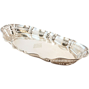 Victorian Sterling Silver Gorham Bread Tray Reticulated Gallery Engraved