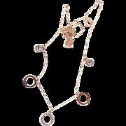 Estate 10k Yellow Gold Diamond Set Pendant Charm Fashion Necklace - Red Tag Sale Item