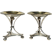 Pair Antique Austro Hungarian c1810 Silver Candy Nut Fruit Spice Towers Compotes Kronstadt