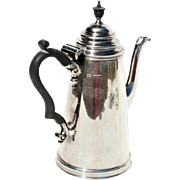 Antique British George III Sterling Silver Lighthouse Individual Coffee Pot Sheffield 1837 James Dixon & Sons
