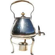 Georgian Sterling Silver Hot Water Urn 3 piece marked London 1787 Wakelin and Taylor 77oz