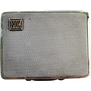 Art Deco Sterling Silver and Gold Alfred Dunhill Cigarette Presentation Case 1921