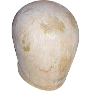 Vintage Balsa Wood Hat Block Millinery Mold Form