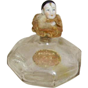 Fabulous 1926 Art Deco Lady Head Perfume Bottle Dareis Jasmine Parfum George W.Button