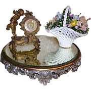 Antique Victorian Plateau Mirror