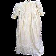 """Antique Christening Gown, Petticoat, Bonnet 40""""Long"""