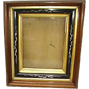 Victorian Eastlake Carved Deep Shadowbox Picture Frame
