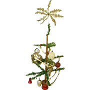 "Early 1900 German Feather Goosefeather Tree 23""/Victorian Tinsel Ornaments/German Ornaments"