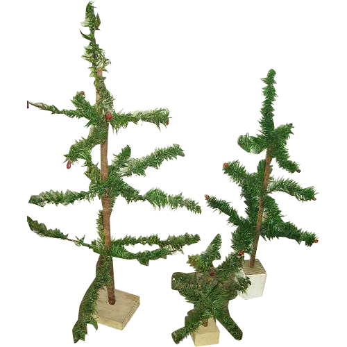 Does Lowes Sell Christmas Trees: Early 1900(3) Small German Feather Goosefeather Trees From
