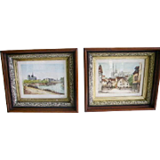 Antique Victorian Eastlake Walnut Picture Frames Pair