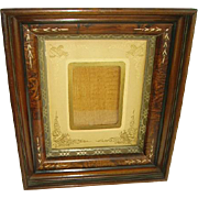 Early Victorian Eastlake Carved Walnut Shadowbox Picture Frame