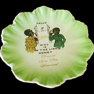 Rare Black Memorabilia Advertising Plate/ Old Lion Store, Hammond, IN/Limoges