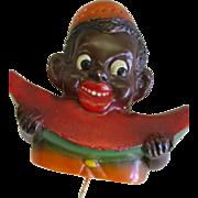 Vintage Black Americana Boy Potholder with Watermelon