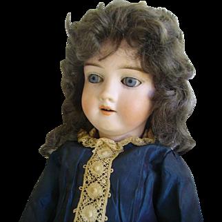 """Antique Kley & Hahn German Bisque Doll 21"""" Mold 250: Backstamped K.H."""
