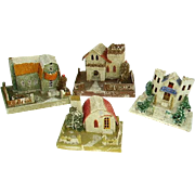 Vintage 1930s Large Mica Putz Houses Christmas Village (4)
