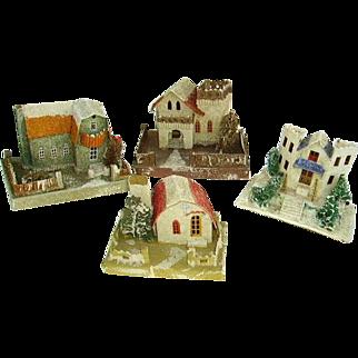 Vintage 1930s Large Mica Putz Houses Christmas Village (4)