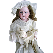 Old Vintage Mechanical Toy Lamb for French/German Doll/Bleating Lamb