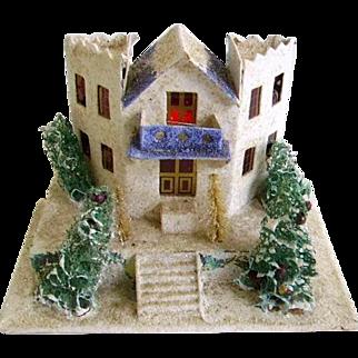 Vintage 1930's Large Mica Putz House/Christmas Putz House/Old Japan