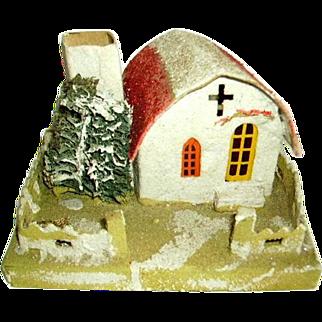 Vintage 1930's Large Mica Putz House/Christmas Putz House/Old Japan/Mission