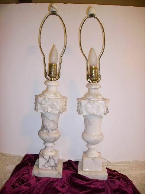 Vintage Alabaster Lamp 89