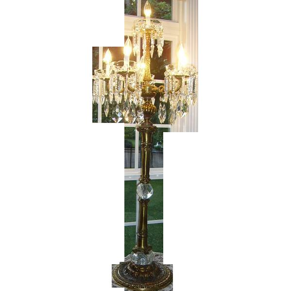 Magnificent 52 Quot Candelabra Chandelier Lamp Crystal Prisms