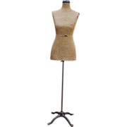 Early 1900 Dress Form Mannequin Tiny Waist
