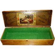 Antique Cigar Box 1800's The Princess Seductive Maiden Label Golden Age - Red Tag Sale Item