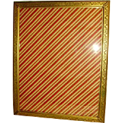 "Vintage 1930's Bronze Brass Floral Etched Picture Frame 15""x12"""