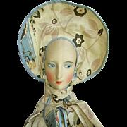 Vintage French Silk Face Boudoir Bed Doll Lingerie Bag