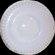 "RESERVED  -Vintage Fenton Silver Crest Low Pedestal Stand Plate 10 5/8"""