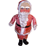 "Antique Mask Face Santa 26"" with Wood Boots"