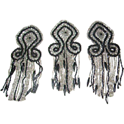 Early 1900s Antique Victorian Beadwork Embellishments for Mourning Dress