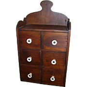 Old Primitive Spice Apothecary Chest Wall Chest