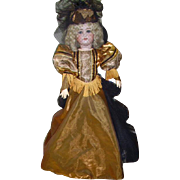 "Antique Kestner Bisque  Doll 28"" Fabulous Gown and Hat"