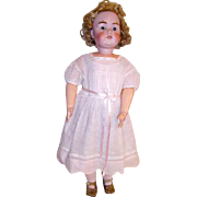 "Antique J.D.K. German Doll Toddler Size 31"" Bisque Dolly Face Mold 215"