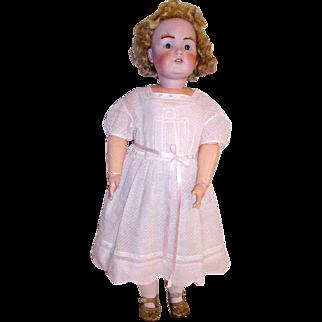 "Antique J.D.K. German Doll Toddler Size 31"" Bisque Dolly Face Mold 215"