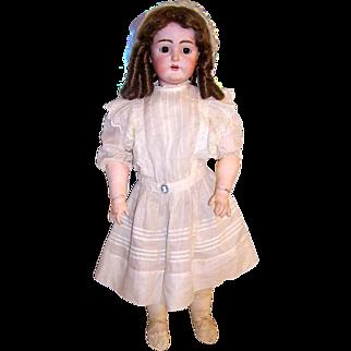 """Antique German 28"""" K.R. Bisque Head Doll Kammer Reinhardt Doll"""