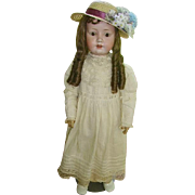 German Bisque MOA Welsch Doll Large 30""
