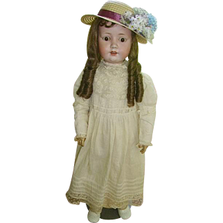"""German Bisque MOA Welsch Doll Large 30"""""""