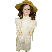 Cute German Handwerck Bisque Head Doll 21""