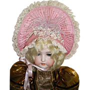 "Stunning Costume Hat for French Bebe/German 30"" Doll"
