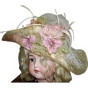 Lovely Costume Hat for French Bebe or German Large Dolls