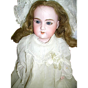 Antique Bisque A & M Floradora German Doll Kid Leather Body