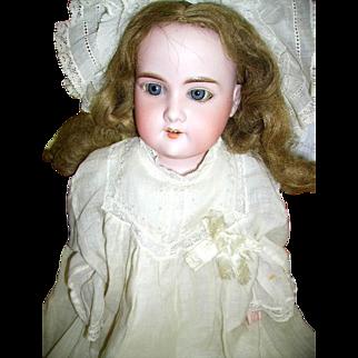 Antique Bisque A & M Floradora German Doll Kid Leather Body