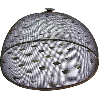 Early Primitive Fly Screen Cover Food Screen Cover Not Repro