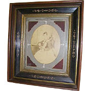 Antique Victorian Eastlake Carved Large Shadowbox Picture Frame