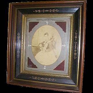 Antique Victorian Eastlake Carved Large Shadowbox Picture Frame